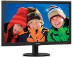 Monitor Philips V-line 243V5LHAB/00, 23.6'' LED FHD, DVI/HDMI, ES 6.0, black