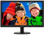 Monitorius Philips V-line 243V5LSB/00 23.6'' LED Full HD,DVI,EPEAT Silver,ES 6.0