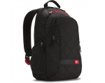 "Case Logic DLBP114K Notebook Sporty Backpack/ For 14""/ Polyester/ Black/ For (24.3 cm x 34.3 cm x 4 cm)"
